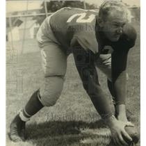 1954 Press Photo Philadelphia Eagles center Charlie Grant - sas10562
