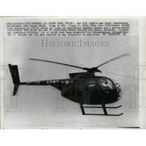 1966 Press Photo Colonel Joseph L. Gude pilots the light observation helicopter