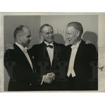 1941 Press Photo Major James H.Doolittle, Griffith Brewer and Frank.W.Caldwell