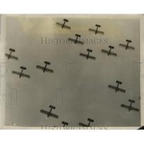 1928 Press Photo Planes of Navy Aircraft Squadron Maneuvering over North Island