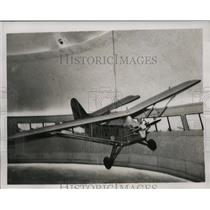 1937 Press Photo Sports Monoplane Twin Cylinder Engine of France Manufacturers