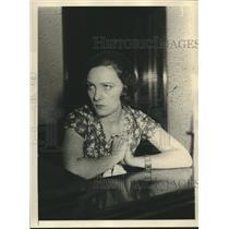 1931 Press Photo Pauline Starke film star at court vs husband Jack White