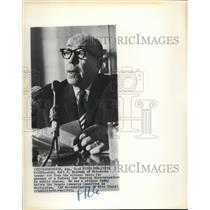 1963 Press Photo Gov Karl Rolvaag testifies at civil rights hearing - sba27886