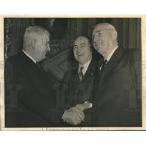 1941 Press Photo Harley Kilgore, Clarence Martin & Joseph Rosier - sba28247