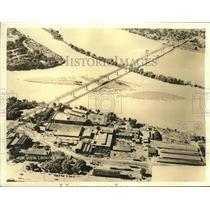 1935 Press Photo New Bridge Links Moline Illinois with Bettendorf Iowa