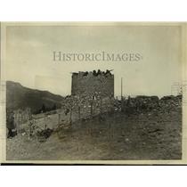 1924 Press Photo Moroccan Blockhouse Where Spaniards Stood Off Moorish Attack