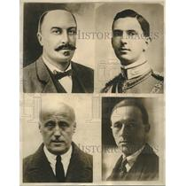 1925 Press Photo men involved in political crisis in Italy versus the fascist r