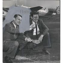 1966 Press Photo Jefferson County Board of Education Robert L. Ellis with Plane