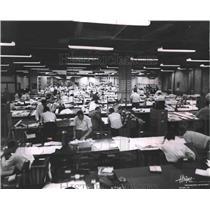 1956 Press Photo Drafting room at Hayes Aircraft, Birmingham, Alabama