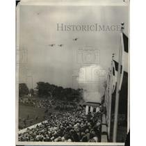 1928 Press Photo Sham Battle Exercise with Marines Pursuit Plane in Pennsylvania