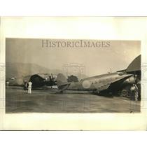 1940 Press Photo Hudson Bombers at the Los Angeles Union Air Terminal, WWII