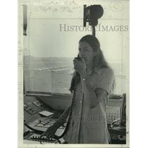 1972 Press Photo Susan Mostert, Air Traffic Controller, Albany, New York