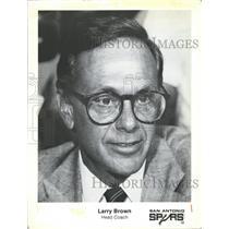 Vintage Press Photo  Larry Brown head coach San Antonio Spurs