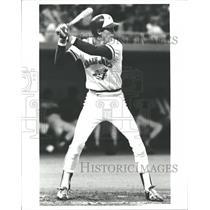 1980 Press Photo Dan Ainge Toronto Blue Jays Cocks Back - RRQ37461