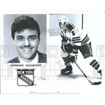 1996 Press Photo Normand Rochfort New york Rangers - RRQ38005