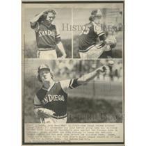 1976 Press Photo Randy Jones Padres Pitcher Vs Cubs - RRQ39305