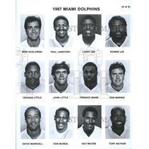 1987 Press Photo Miami Dolphins George Mann Dan David - RRQ45687