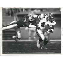 1988 Press Photo Mike Harden Falcons John Denver game - RRQ46937