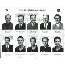 1997-1998 Press Photo Pittsburg Penguins Hockey Team - RRQ50375