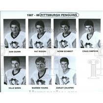 1987-1988 Press Photo Pittsburgh Penguins Hockey Team - RRQ50379