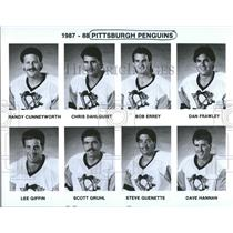 1987 Press Photo Pittsburgh Penguins Roster Pictures - RRQ50507