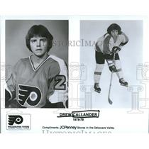 1978 Press Photo Philadelphia Flyers Roster Callander - RRQ50539