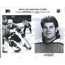 1991 Press Photo Rick Tocchet Philadelphia Flyers NHL - RRQ50553
