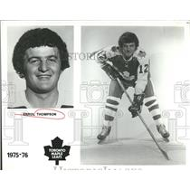 1974 Press Photo Toronto Maple Leafs Player Thompson - RRQ50555