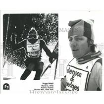 1942 Press Photo Hugo Nindl Autrian Veteran Skiing Pro - RRQ50759