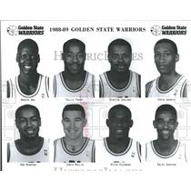 1988 Press Photo NBA Golden State Warriors Team Photo - RRQ52037