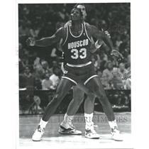 1988 Press Photo Otis Henry Thorpe Houston Rockets NBA - RRQ53625