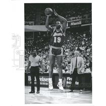 Press Photo Anthony Campbell Los Angeles Lakers Pistons - RRQ53637
