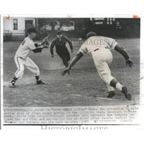 1961 Press Photo Dive Keely baseball tournament action - RRQ59901