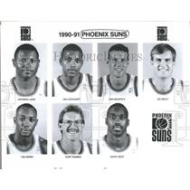 1990 Press Photo Phoenix Suns Basketball Team Members - RRQ59977