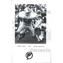 1990 Press Photo Steve Towle football linebacker Miami - RRQ60823