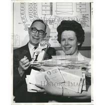 1968 Press Photo Denver Broncos Ticket manager. - RRQ61087