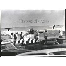 1973 Press Photo Silver Eagle helicopters antique plane - RRQ60013