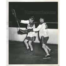 1948 Press Photo Frank King Lee Brodu Playing Coach - RRQ54895