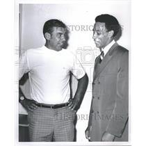 1969 Press Photo Bill Van Breda Kolfi Pistons Coach - RRQ16239