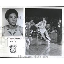 1975 Press Photo Phil Smith Guard Golden State Warriors NBA Basketball