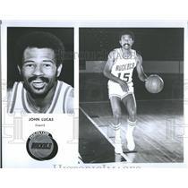 1976 Press Photo Houston Rockets Player Profile Lucas - RRQ55859