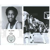 1977 Press Photo Eric Money Detroit Pistons - RRQ50341