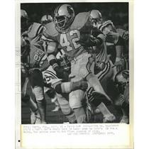 1977 Press Photo Ricky Bell Stan White Tampa Bay Baltim - RRQ61947