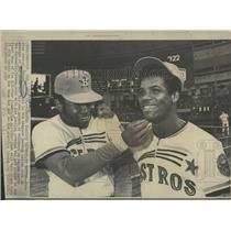 1978 Press Photo Baseball Houston Astro Cedeno Watson - RRQ36395