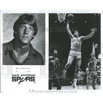 1979 Press Photo Mark Olberding NBA San Antonio Spurs - RRQ65721