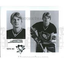 1980 Press Photo Jim Hamilton of the Pittsburgh Penguin - RRQ56099