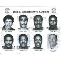 1983 Press Photo NBA Golden State Warriors Team - RRQ52047