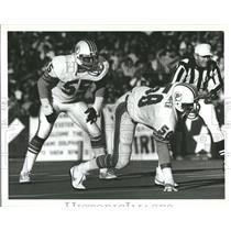 1983 Press Photo Miami Dolphins Bokamper Rhone - RRQ64851