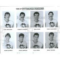 1986 Press Photo Pittsburgh Penguins Carl Mokosak Norm - RRQ37839