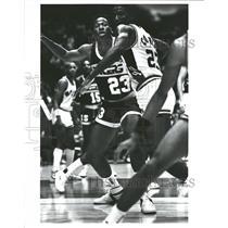 1986 Press Photo Indiana Pacers' Wayman Tisdale - RRQ57057